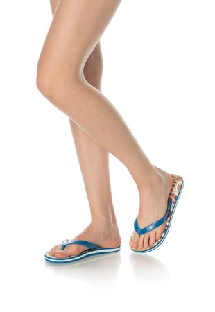 Papuci flip-flop albastri Hearts